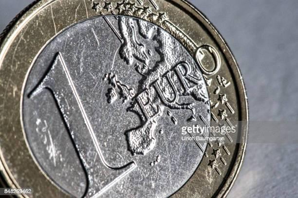Macro shot of an 1 euro coin