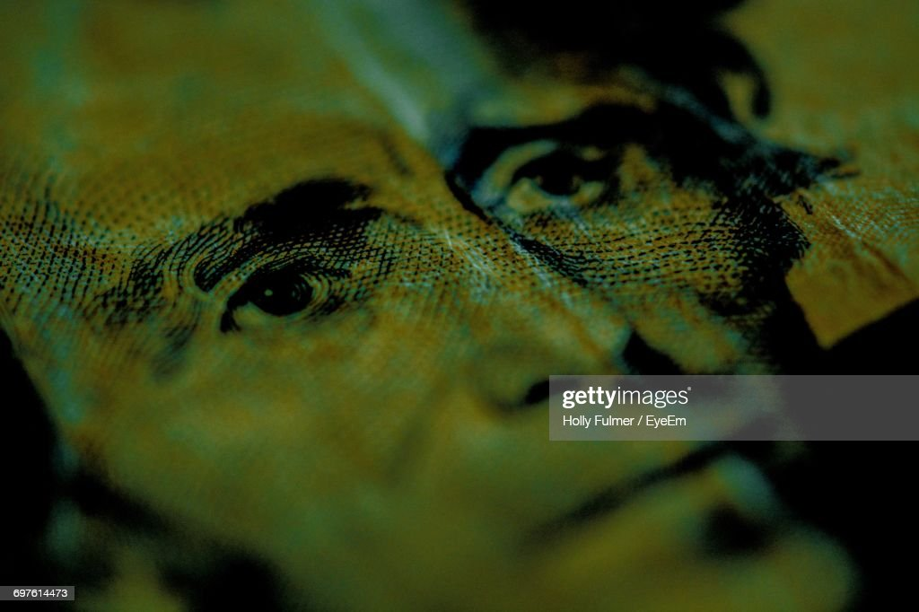 Macro Shot Of Andrew Jackson On Us Paper Currency : Stock Photo