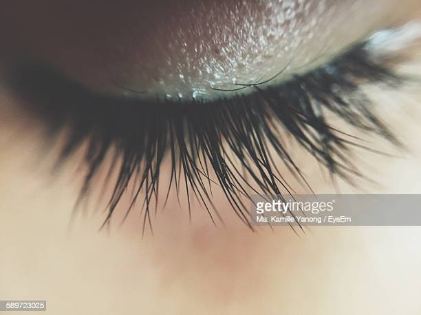 Macro Shot Of Closed Eye