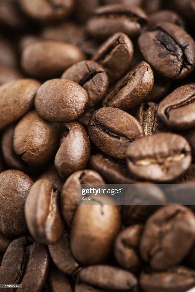 Macro shot of coffee beans - shallow depth of field. : Photo