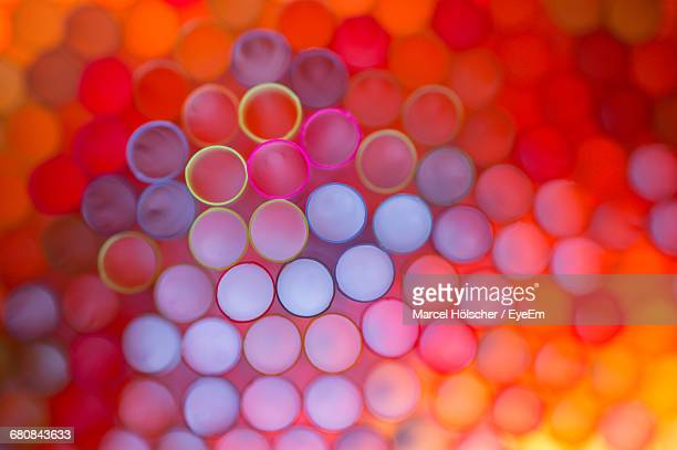 macro shot of colorful drinking straws - macro photography stock photos and pictures