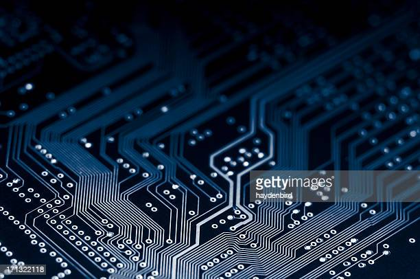 Macro shot of Electronic Circuit Board representing modern technology