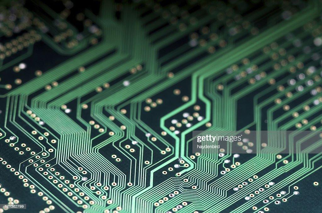 Macro Shot Of Electronic Circuit Board Representing Modern Technology