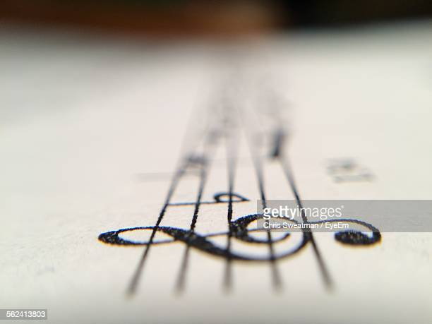 Macro Shot Of Musical Notes