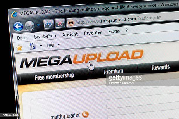 MEGAUPLOAD-Makro Schuss von real-Bildschirm