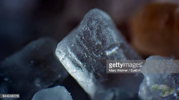 Macro Shot Of Salt Crystal