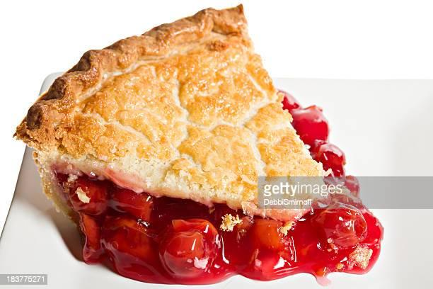 Macro Slice Of Cherry Pie