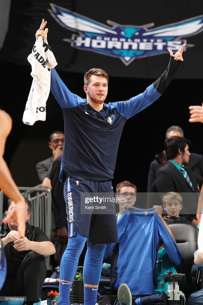 377921334b11 J.P. Macura of the Charlotte Hornets celebrates during the game ...