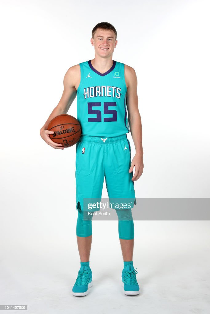9e340e9f4613 JP Macura of the Charlotte Hornets poses for a portrait during the ...