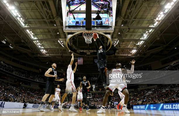 Macura of the Xavier Musketeers shoots against the Arizona Wildcats during the 2017 NCAA Men's Basketball Tournament West Regional at SAP Center on...