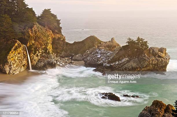 macway fall waterfall, big sur, california, usa - big mac stock pictures, royalty-free photos & images
