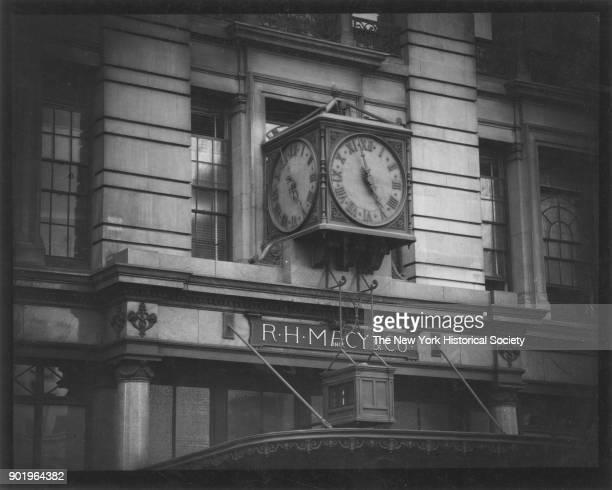 Macy & Co, 35th Street and Broadway, Clock, New York, New York, 1929.
