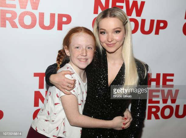 Macy Falco and Dove Cameron pose at the opening night after party for the new musical based on the iconic film Clueless at The Green Fig Urban Eatery...