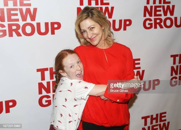 Macy Falco and mother Edie Falco pose at the opening night after party for the new musical based on the iconic film Clueless at The Green Fig Urban...