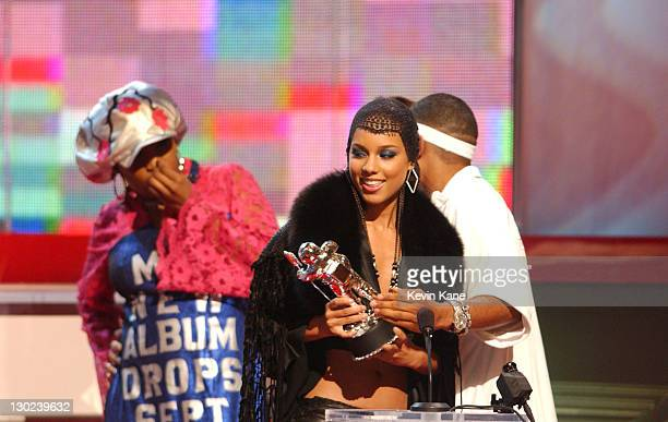Macy Gray Alicia Keys Nelly during 2001 MTV Video Music Awards Show at The Metropolitan Opera House at Lincoln Center in New York City New York...