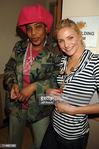 Macy Gray and Cameron Diaz during Nickelodeon's 19th Annual Kids' Choice Awards - Backstage and Audience at Pauley Pavillion in Westwood, California,...