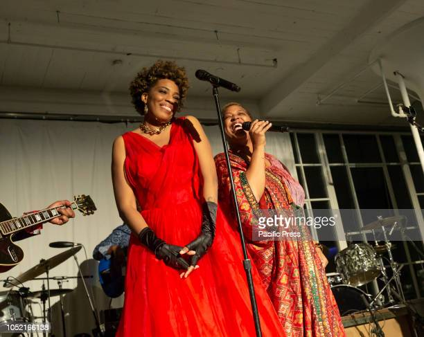Macy Gray and Lisa Fischer perform at Loft Party A Night for the Soul for Jazz Foundation of America at Hudson Studios