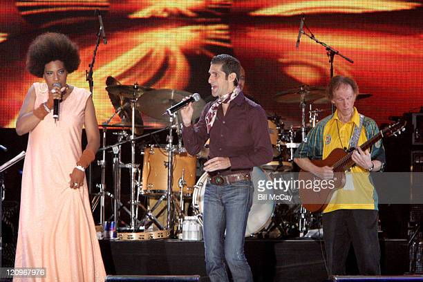 Macy Gray and Perry Farrell with Robby Krieger founding member of the Doors