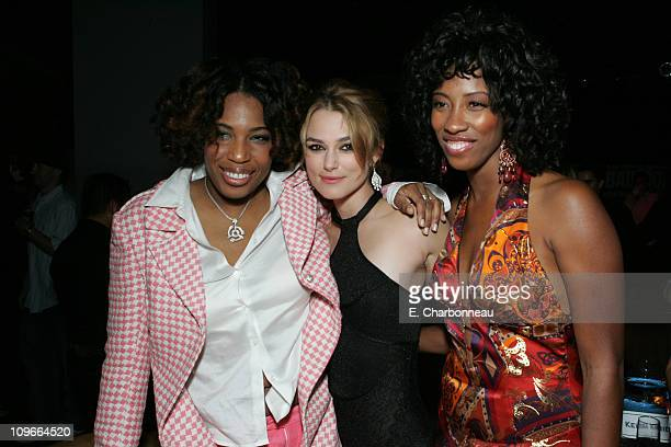Macy Gray Keira Knightley and Shondrella Avery during New Line Cinema's 'Domino' Los Angeles Premiere at Grauman's Chinese Theatre in Los Angeles...