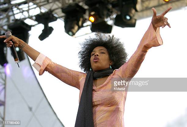 Macy Gray of The Black Eyed Peas performs at the American Express Concert in NYC during The 3rd Annual Tribeca Film Festival