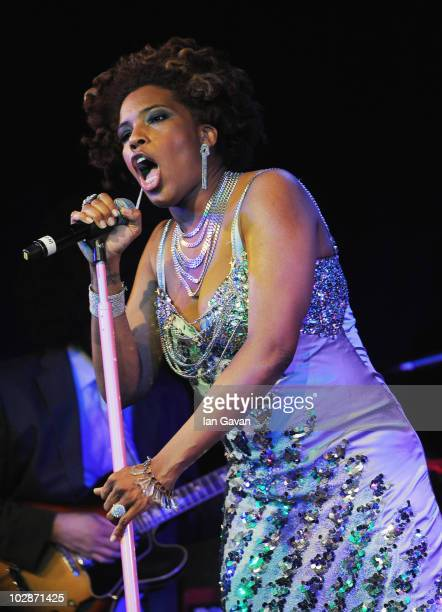 Macy Gray performs live at the Leicester Square Theatre on July 13 2010 in London England