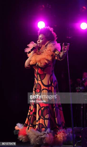 Macy Gray performs on stage at the 13th Annual MusiCares MAP Fund Benefit Concert at the PlayStation Theater on June 26 2017 in New York City...