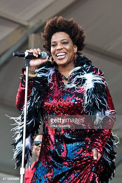 Macy Gray performs with Galactic at Fair Grounds Race Course on May 1 2015 in New Orleans Louisiana