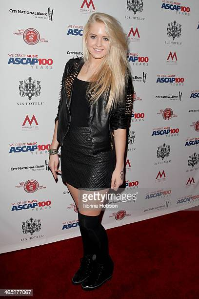 Macy Kate attends the ASCAP's 2014 GRAMMY nominee brunch at SLS Hotel on January 25 2014 in Beverly Hills California