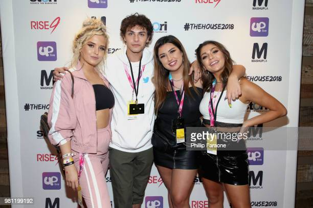 Macy Kate Stevie Ruffs guest and Andrea Russett attend the #TheHouse2018 Presented by Rise9 and Mashup LA on June 21 2018 in Anaheim California