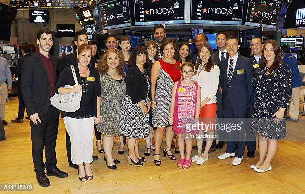 Macy's 4th of July Fireworks executive producer Amy Kule and members of the Macy's parade and entertainment group ring the New York Stock Exchange...