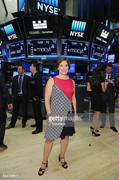 Macy's 4th of July Fireworks Executive Producer Amy Kule poses for a photo after ringing The New York Stock Exchange Closing Bell To Celebrate Macy's...