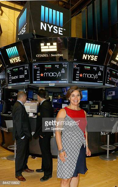 Macy's 4th of July Fireworks executive producer Amy Kule rings the New York Stock Exchange closing bell to celebrate Macy's 4th Of July fireworks at...