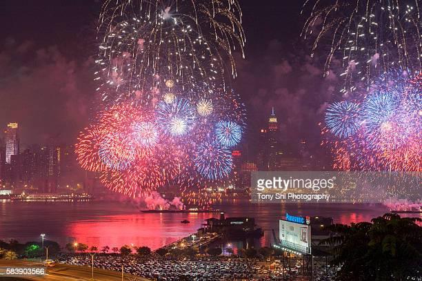Macy's 4th of July Fireworks - Hudson River - New York City
