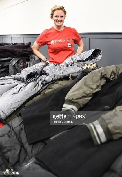 Macy's and Clothes4Souls distribute brand new Macy's coats to men and women at The Bowery Mission on December 6 2017 in New York City This is one of...