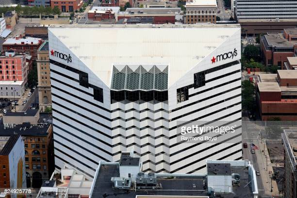 Macy's Building as photographed from the Carew Tower observatory deck in Cincinnati Ohio on July 22 2017