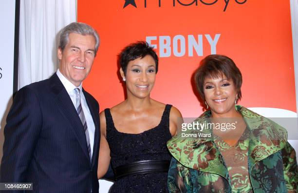 Macy's CEO Terry Lundgren Johnson Publishing Company CEO Desiree Rogers and Johnson Publishing Company Chairwoman Linda Johnson Rice attend the...