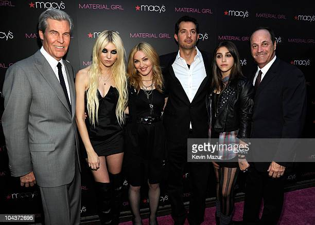 Macy's Chairman President and CEO Terry Lundgren Taylor Momsen Madonna Guy Oseary Lola Leon and CEO of Iconix Brand Group Inc Neil Cole attend the...