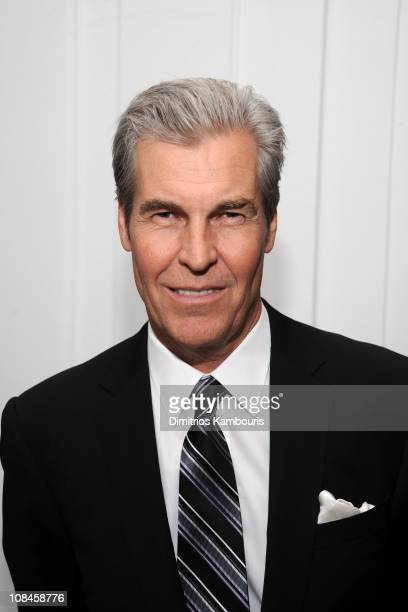 Macy's Chairman President CEO Terry Lundgren attends Tommy Hilfiger's engagement party hosted by Leonard and Evelyn Lauder at Neue Galerie on June 9...