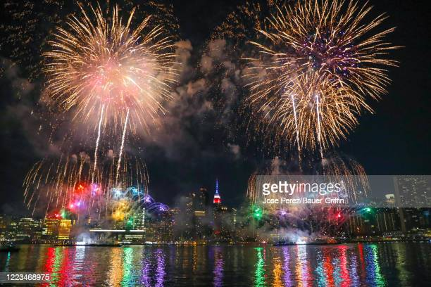 Macy's first night of 4th of July Fireworks on June 29 2020 in New York City Macy's has started six nights of fireworks across New York City tonight...