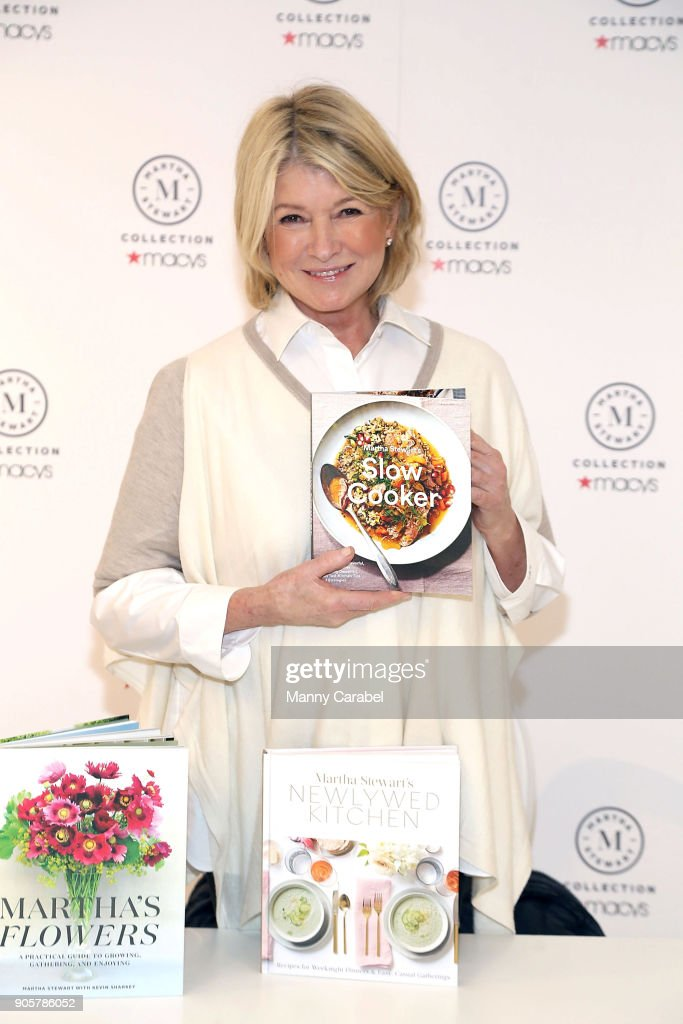 Macy's Garden State Plaza welcomes Martha Stewart to celebrate her new books 'Newlywed Kitchen' and 'Slow Cooker' at Macy's Garden State Plaza on January 16, 2018 in Paramus, New Jersey.