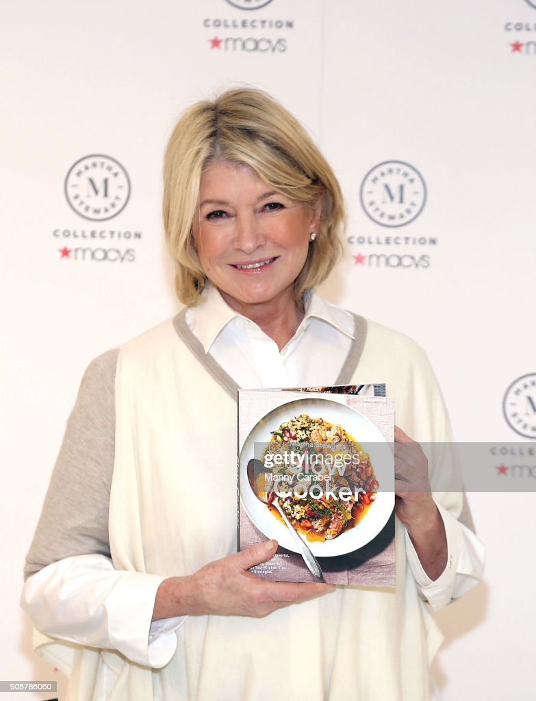 "Macy's Welcomes Martha Stewart To Celebrate Her New Books ""Newlywed Kitchen"" And ""Slow Cooker"""
