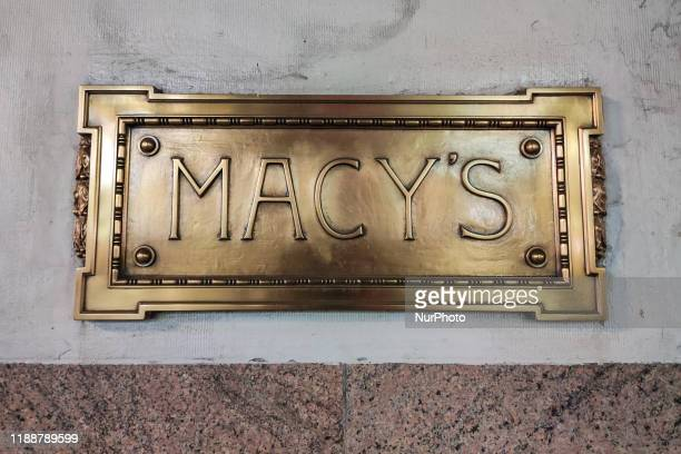 Macy's Herald Square Flagship Department Store in Midtown Manhattan New York City with Christmas window display decoration. The shop is among the...
