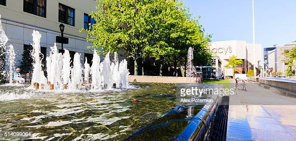 macy's shopping center in new rochelle downtown. westchester, usa - new rochelle stock pictures, royalty-free photos & images