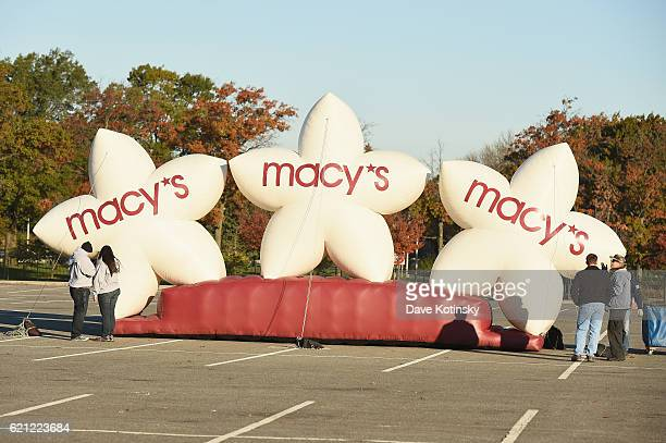 Macy's stars inflate at Macy's Balloonfest in preparation for the 90th Anniversary Macy's Thanksgiving Day Parade at Citi Field on November 5 2016 in...