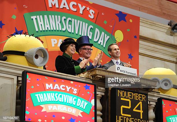 Macy's Thanksgiving Day Parade executive producer Amy Kule former executive producer Robin Hall NYSE Global Corporate Client Group Senior Vice...