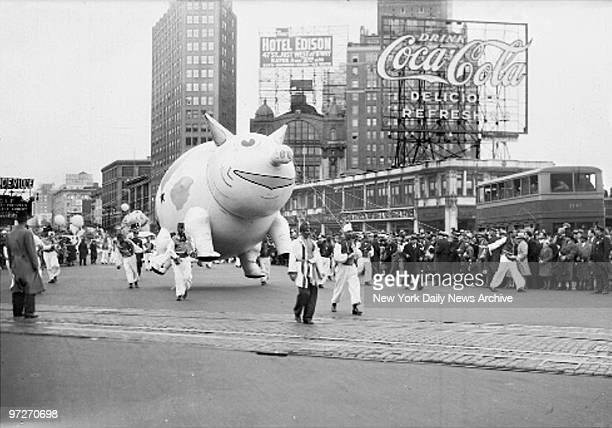 Macy's Thanksgiving Day Parade Oink Oink This gigantic grunting porter doesn't look as though he need to be afraid of any bad wolf no matter how big...