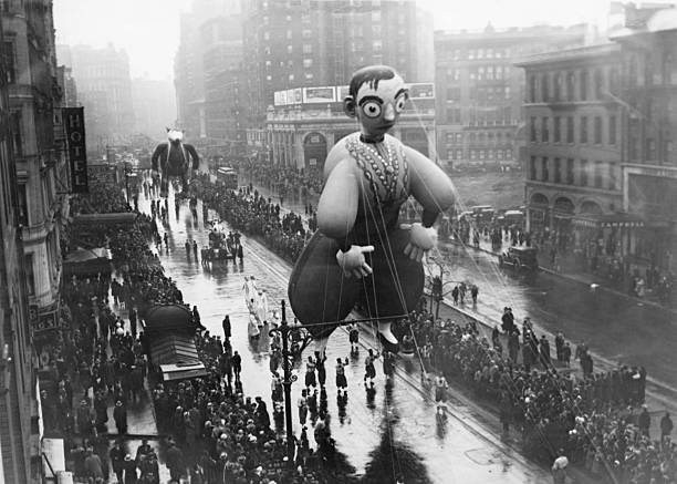 An Eddie Cantor balloon in the Macy's Thanksgiving...