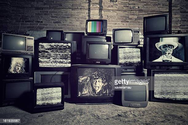 mad about televisions - stack stock photos and pictures