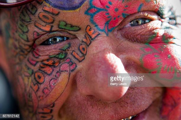 Mad Alan explorer with his tatooed face titanium teeth ShangriLa is the afterhours epicentre of the Glastonbury Festival 2013 The theme for 2013 is...
