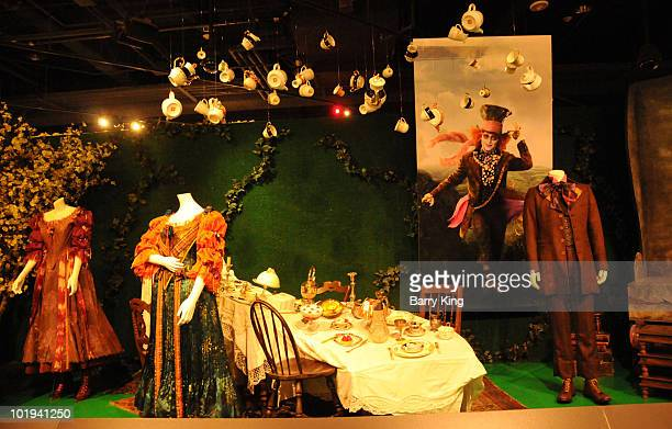 Mad Hatter Costume worn by Johnny Depp at Disney's 'Alice In Wonderland' Costume Exhibition Opening Night Gala at FIDM Museum Galleries on the Park...